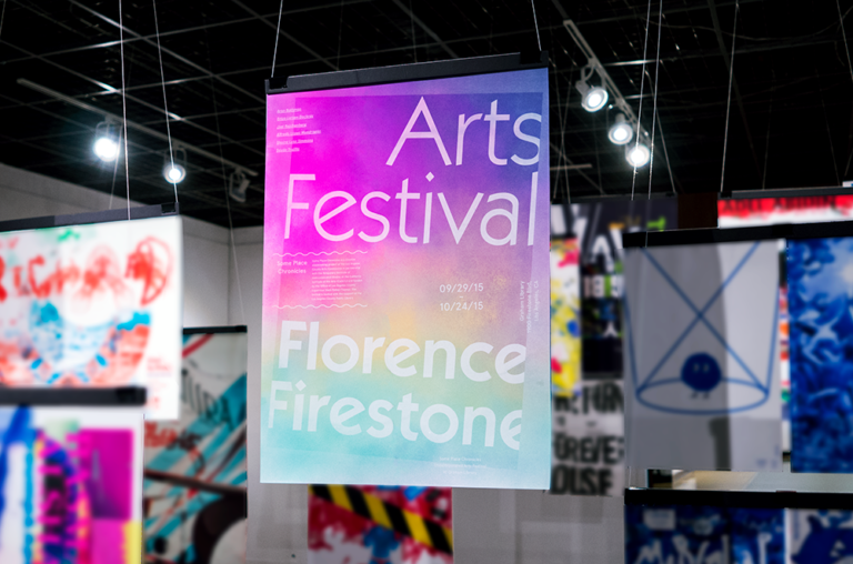 Jessica Lee FLORENCE FIRESTONE ART FESTIVAL [Poster, Typography, Screen Printing]