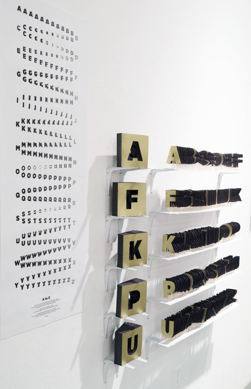 Jessica Lee A — Z [Installation, Experimental Typography, Poster, Book]