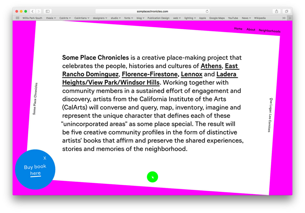 Jessica Lee SOME PLACE CHRONICLES [Web Design, UX/UI]