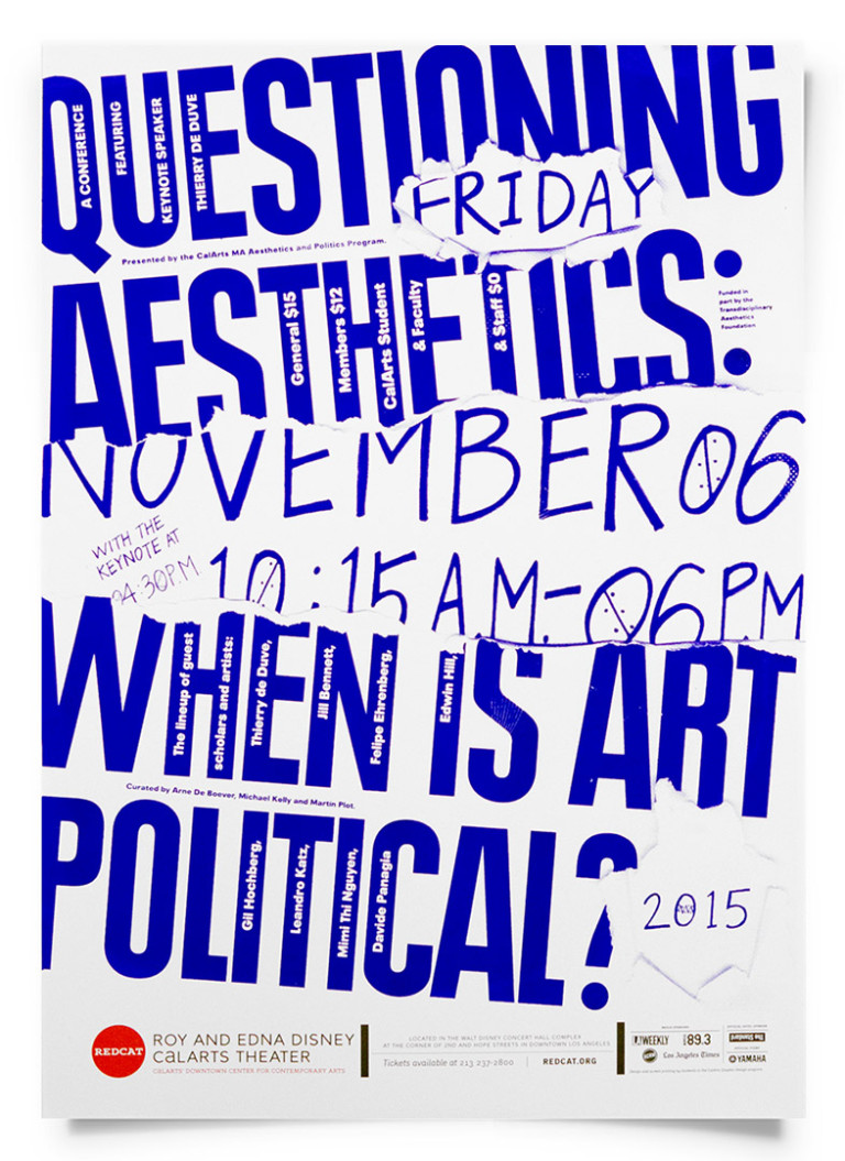 Jessica Lee QUESTIONING AESTHETICS [Poster, Typography, Screen Printing]