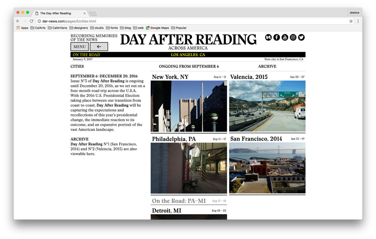 Jessica Lee DAY AFTER READING [Publication, Photography, Social Media, Book Design]