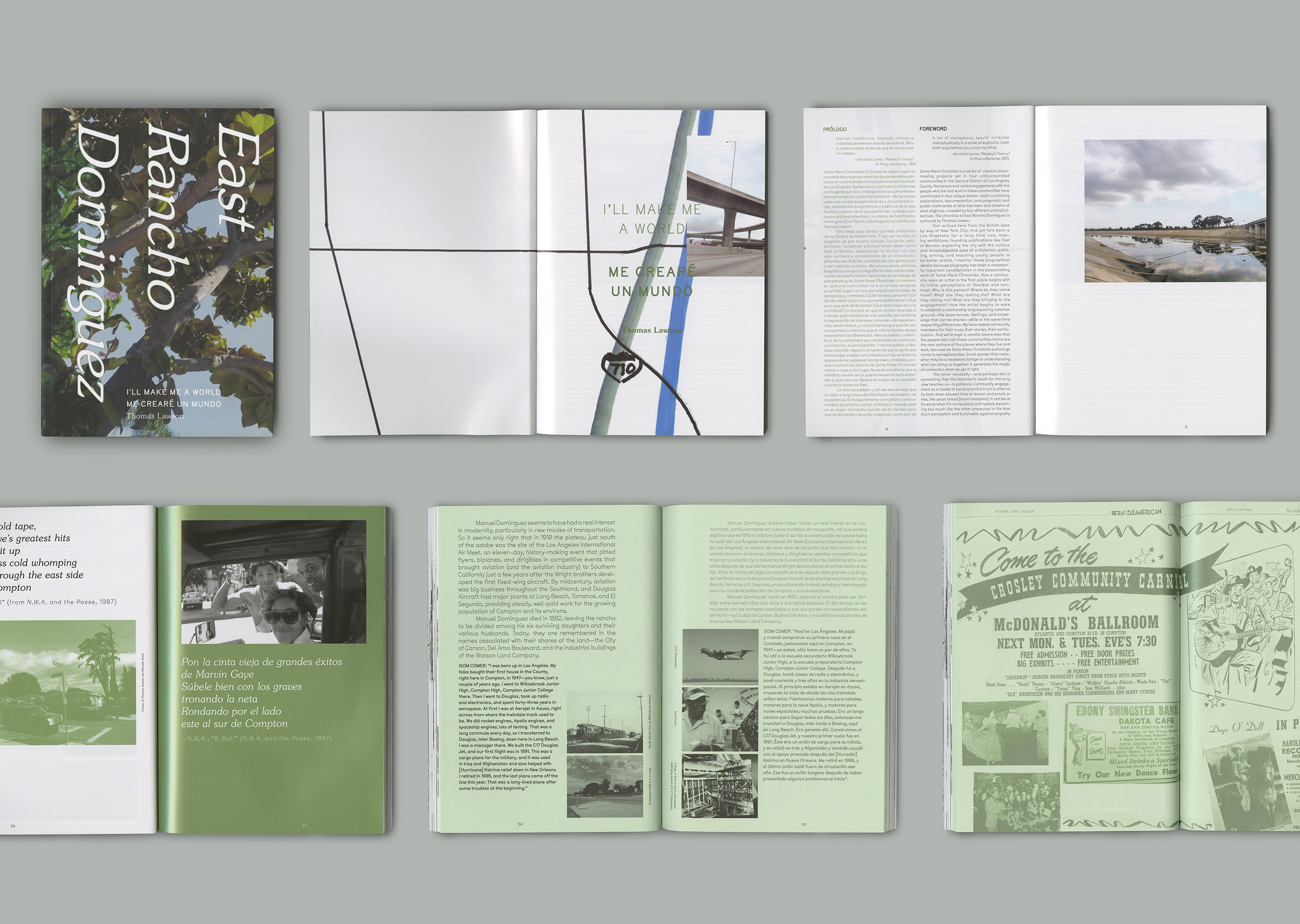 Jessica Lee SPC: EAST RANCHO DOMINIGUEZ [Publication, Book Design, Typography]